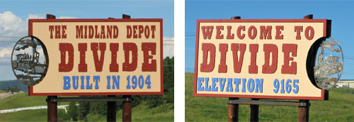 Divide-Midland-Depot-Sign